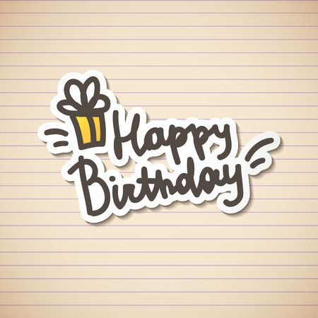 happy birthday, handwritten text Stock Photo - 26481455