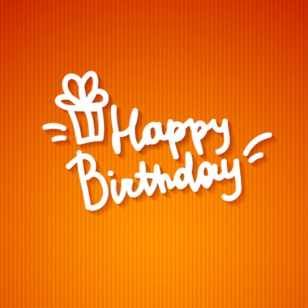 happy birthday, handwritten text Stock Photo - 26481460