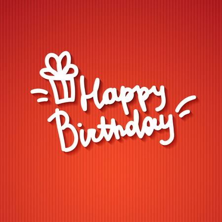 happy birthday, handwritten text Stock Photo - 26481457