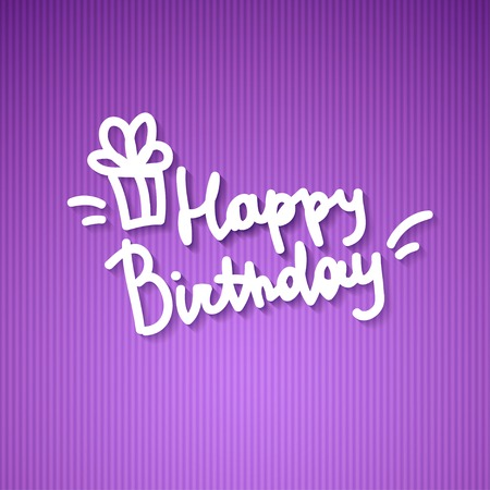 happy birthday, handwritten text Stock Photo - 26481458