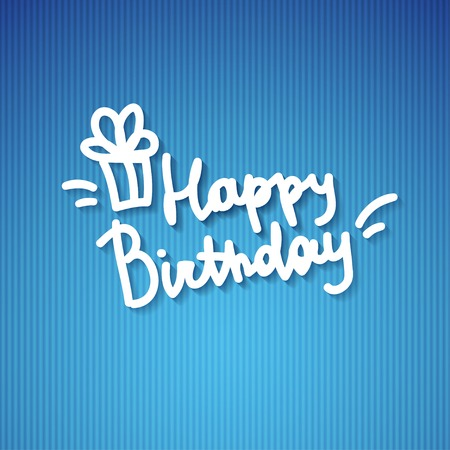 happy birthday, handwritten text Stock Photo - 26481459