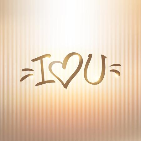 abbreviated: ti amo, testo a mano abbreviato a forma di cuore