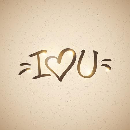 handwrite: i love you, handwritten abbreviated text with heart shape