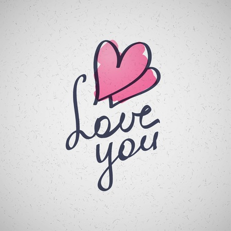 love you, vector hanwritten text photo