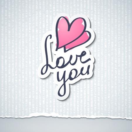te negro: te quiero, texto hanwritten