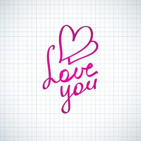 love you, hanwritten text photo