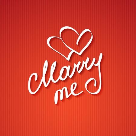 marry me: marry me Stock Photo