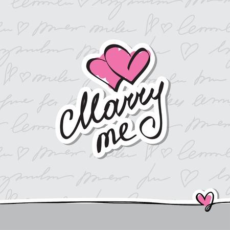 handwrite: marry me Stock Photo