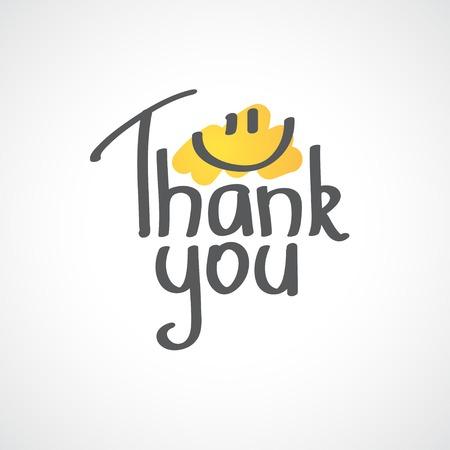 te negro: Gracias inscripci�n, dibujado a mano
