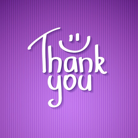 Thank You text paper sticker, illustration illustration