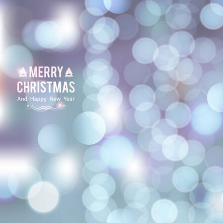 christmas background of blurred lights photo