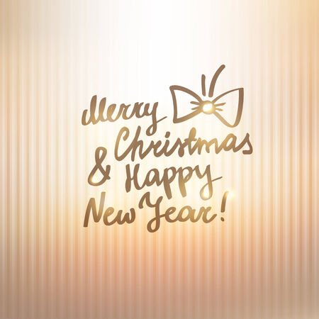 merry christmas and happy new year, handwritten text photo