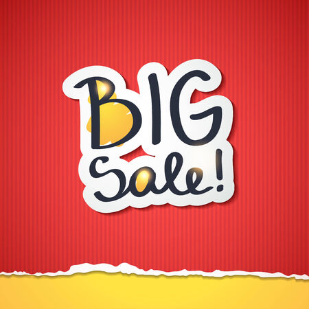 big sale: big sale, handwritten text