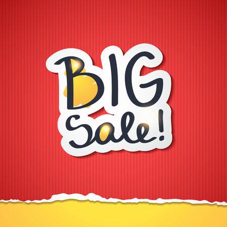 big sale: big sale, handwritten text