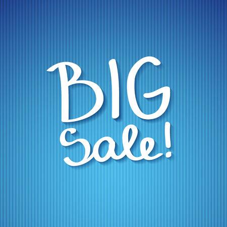 handwrite: big sale, handwritten text