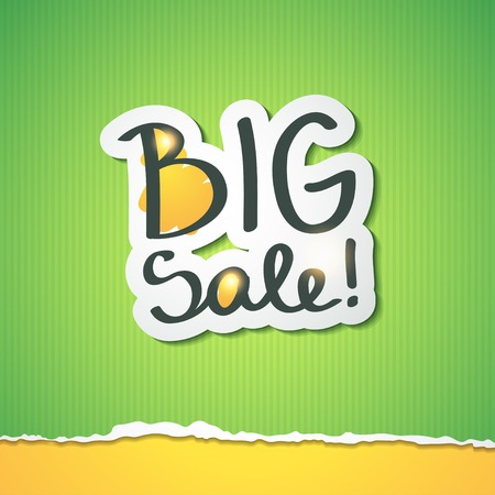 big sale, handwritten text photo