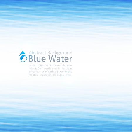 sea wave: background with water surface and drop icon