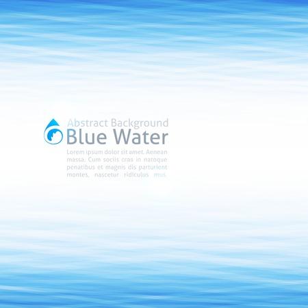 wasser: Hintergrund mit Wasseroberfläche und Tropfensymbol