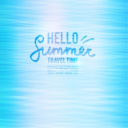 summer background with water surface and text Vector