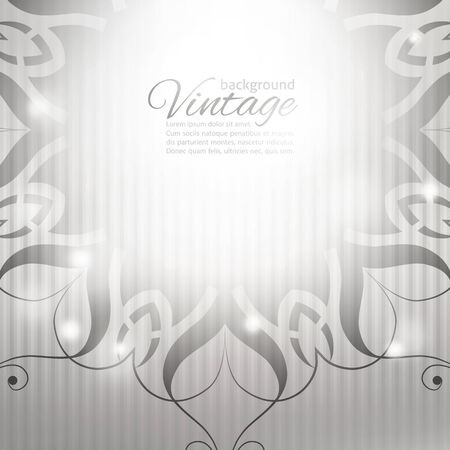 grayscale: vector vintage background with circle pattern and stripes