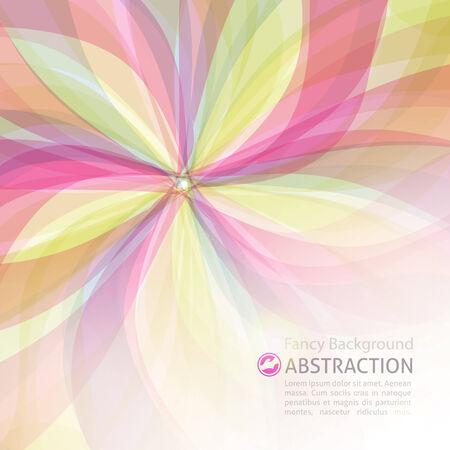 vecteur fond abstrait avec des fleurs et espace pour le texte