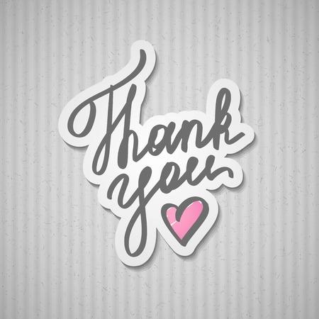 felt tip pen: thank you