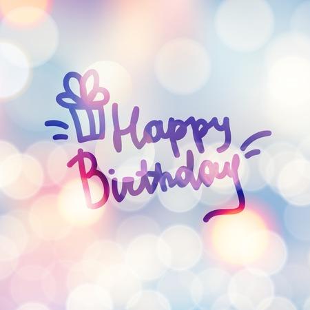 happy holidays text: happy birthday
