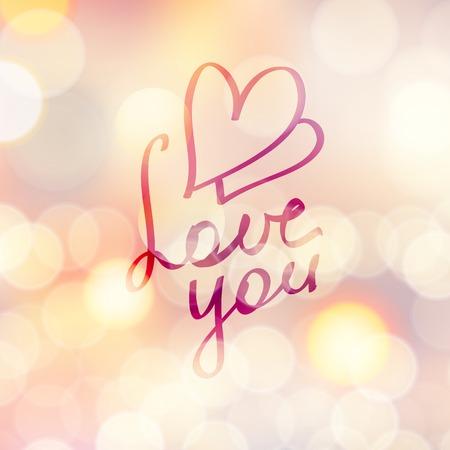 handwrite: love you