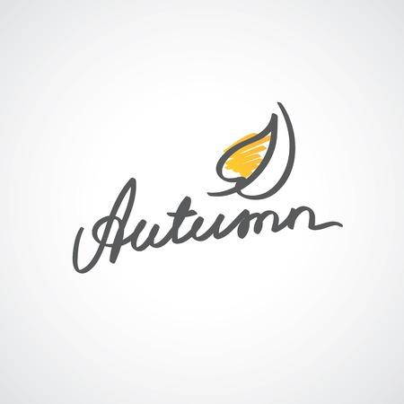 handwrite: autumn writing