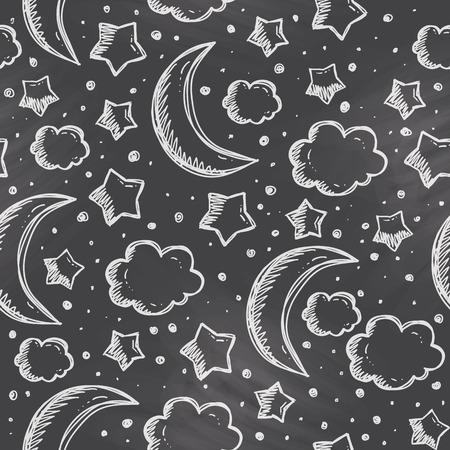 night pattern Vector