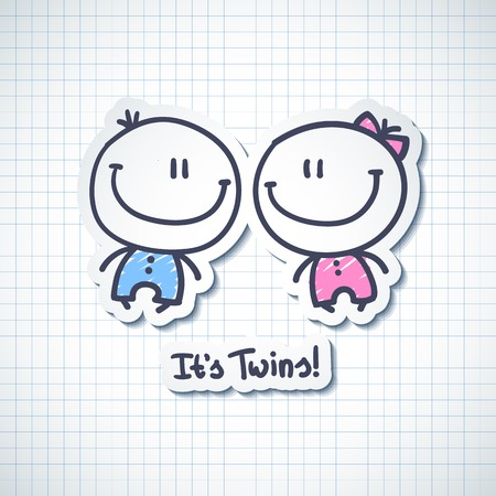 twin sister: its twins Illustration