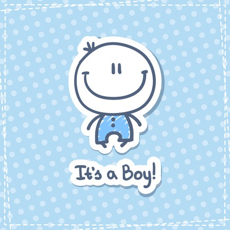 boys happy: its a boy Illustration