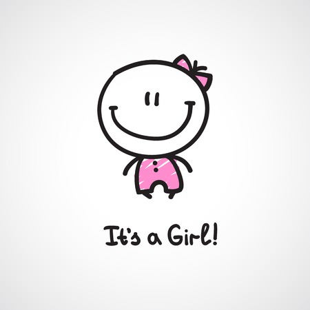 its a girl Vector