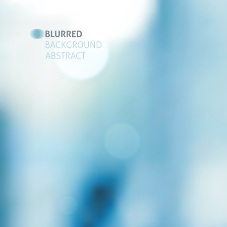 vector blurred abstract background with lights, blue color Stock Illustratie