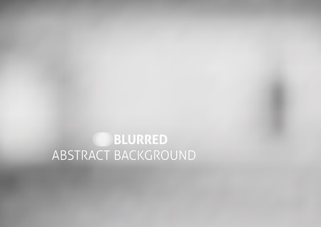 vector abstract background with blurred objects, gray color