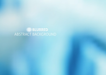 vector abstract background with blurred objects and sample text, blue color Illustration