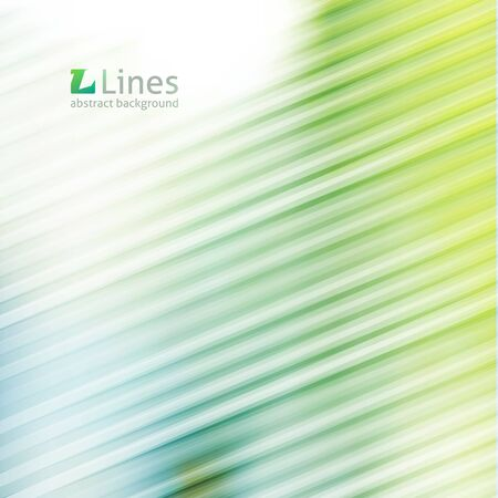 diagonal lines: vector geometric abstract backround with lines in light green color Illustration