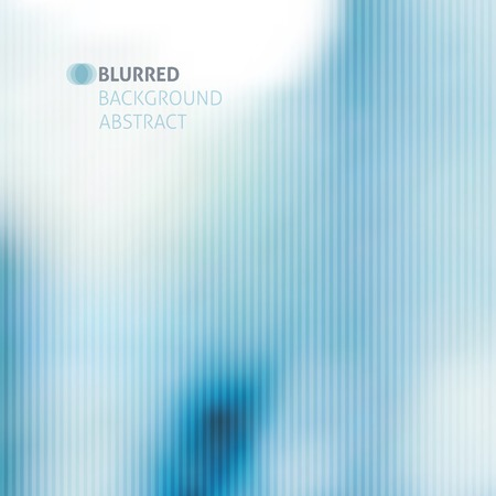unfocused: vector blurred abstract background with stripes, blue color