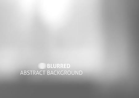 グレー色抽象ぼかしたオブジェクトとベクトルの背景