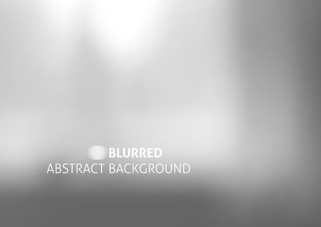 vector background with blurred objects, abstraction in gray color Ilustração