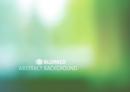 vector background with blurred objects, abstraction in green color