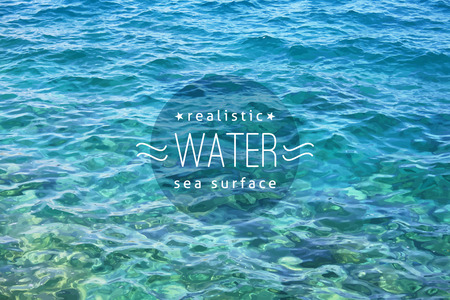 text sample: vector realistic water texture with sample text