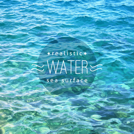 sample text: vector realistic water texture with sample text