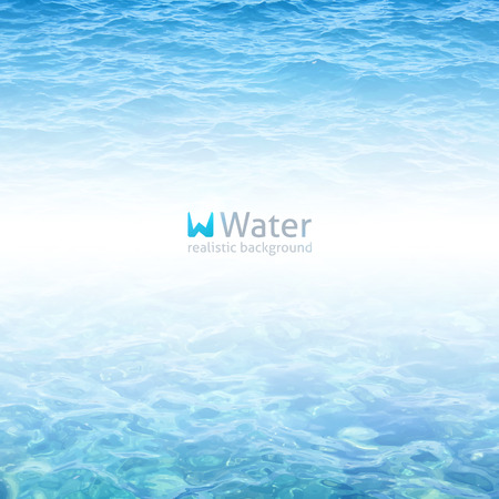vector realistic water background in blue color