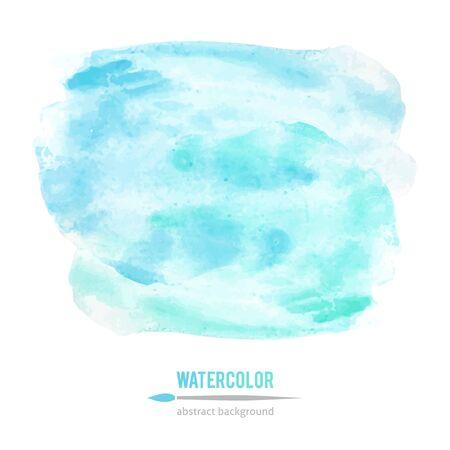 abstrakce: vektor abstrakce modré akvarelu skvrny na bílém pozadí