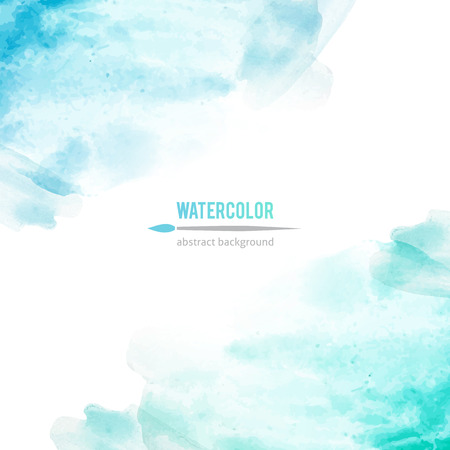 vector abstract background of blue watercolor stains