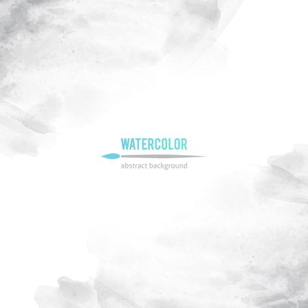 vector abstract background of gray watercolor stains Ilustração