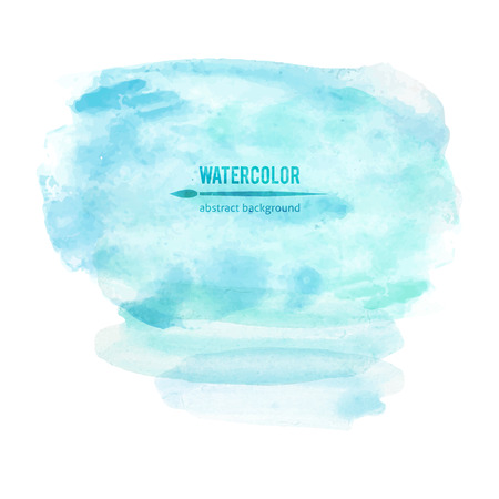 vector abstraction of blue watercolor stain on white background
