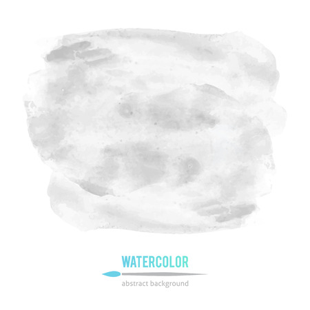 watercolor smear: vector abstraction of gray watercolor stain on white background Illustration