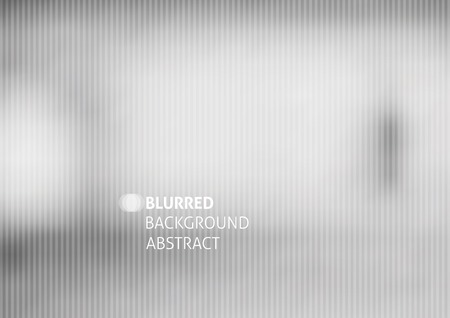 photo backdrop: vector blurred abstract background with stripes, gray color Illustration